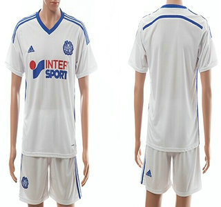2014-15 Olympique de Marseille Blank Home Soccer Shirt Kit