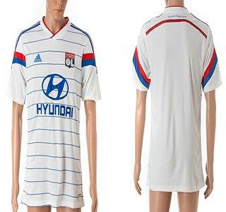 2014-15 Olympique Lyonnais Blank Home Soccer AAA+ T-Shirt