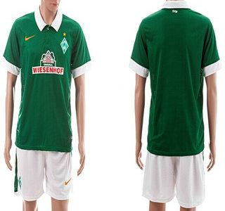 2014-15 Werder Bremen Blank Home Soccer Shirt Kit