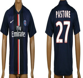 2014-15 Paris Saint-Germain #27 Pastore Home Soccer AAA+ T-Shirt
