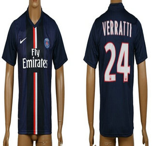 2014-15 Paris Saint-Germain #24 Verratti Home Soccer AAA+ T-Shirt