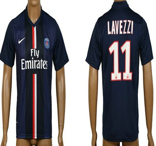 2014-15 Paris Saint-Germain #11 Lavezzi Home Soccer AAA+ T-Shirt