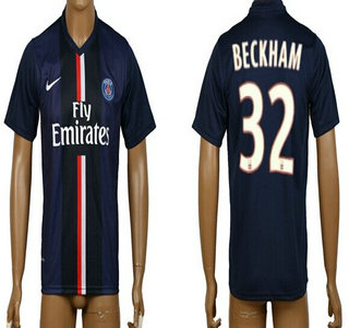 2014-15 Paris Saint-Germain #32 Beckham Home Soccer AAA+ T-Shirt
