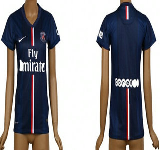 2014-15 Paris Saint-Germain Blank Home Soccer AAA+ T-Shirt_Womens