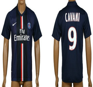 2014-15 Paris Saint-Germain #9 Cavani Home Soccer AAA+ T-Shirt