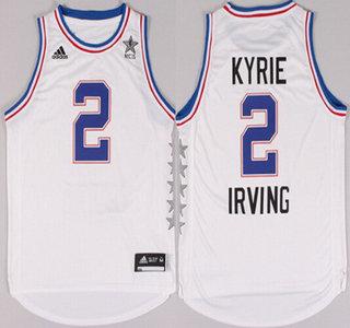 2015 NBA Eastern All-Stars #2 Kyrie Irving Revolution 30 Swingman White Jersey