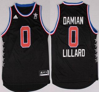 2015 NBA Western All-Stars #0 Damian Lillard Revolution 30 Swingman Black Jersey