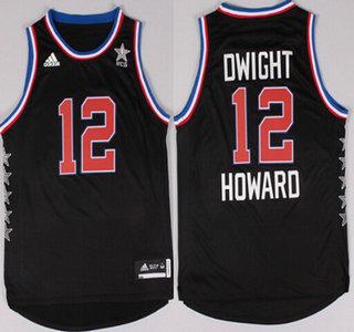 2015 NBA Western All-Stars #12 Dwight Howard Revolution 30 Swingman Black Jersey