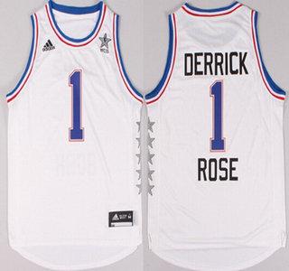 2015 NBA Eastern All-Stars #1 Derrick Rose Revolution 30 Swingman White Jersey