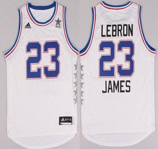 2015 NBA Eastern All-Stars #23 LeBron James Revolution 30 Swingman White Jersey