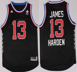 2015 NBA Western All-Stars #13 James Harden Revolution 30 Swingman Black Jersey