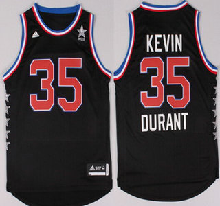 2015 NBA Western All-Stars #35 Kevin Durant Revolution 30 Swingman Black Jersey