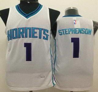 Charlotte Hornets #1 Lance Stephenson White Swingman Jersey