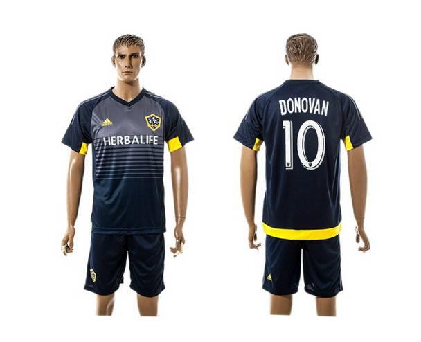 2015-16 Men's Los Angeles Galaxy Home #10 Donovan Navy Blue Soccer Shirt Kit