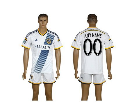 2015-16 Men's Los Angeles Galaxy Home Customized White Soccer Shirt Kit
