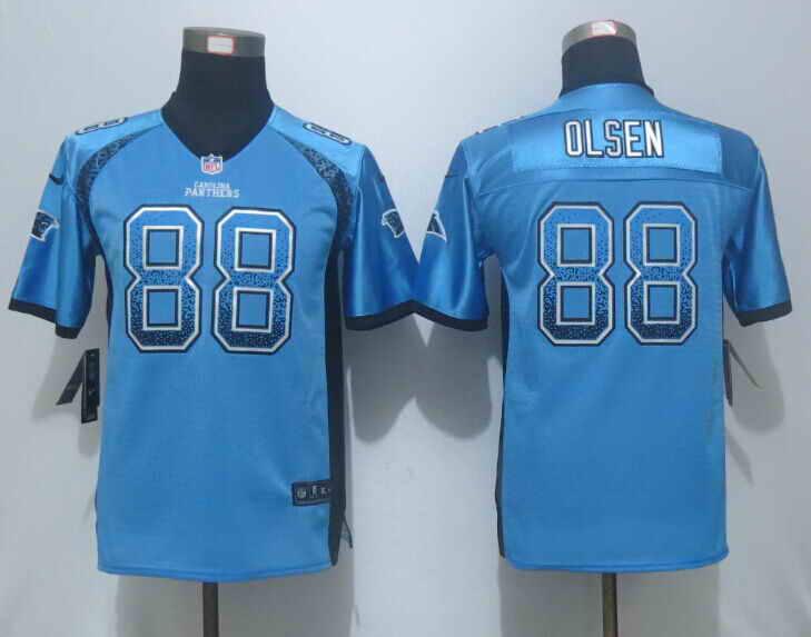 Nike Panthers 88 Greg Olsen Blue Drift Fashion Youth Jersey