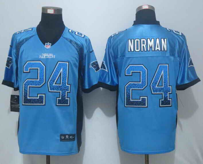 Nike Panthers 24 Josh Norman Blue Drift Fashion Elite Jersey