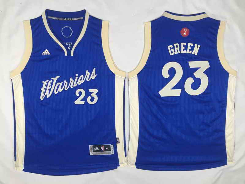 Warriors 23 Draymond Green Blue 2015-16 Christmas Day Swingman Youth Jersey
