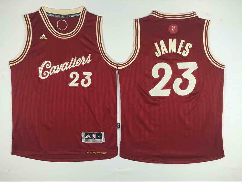Cavaliers 23 Lebron James Red 2015-16 Christmas Day Swingman Youth Jersey