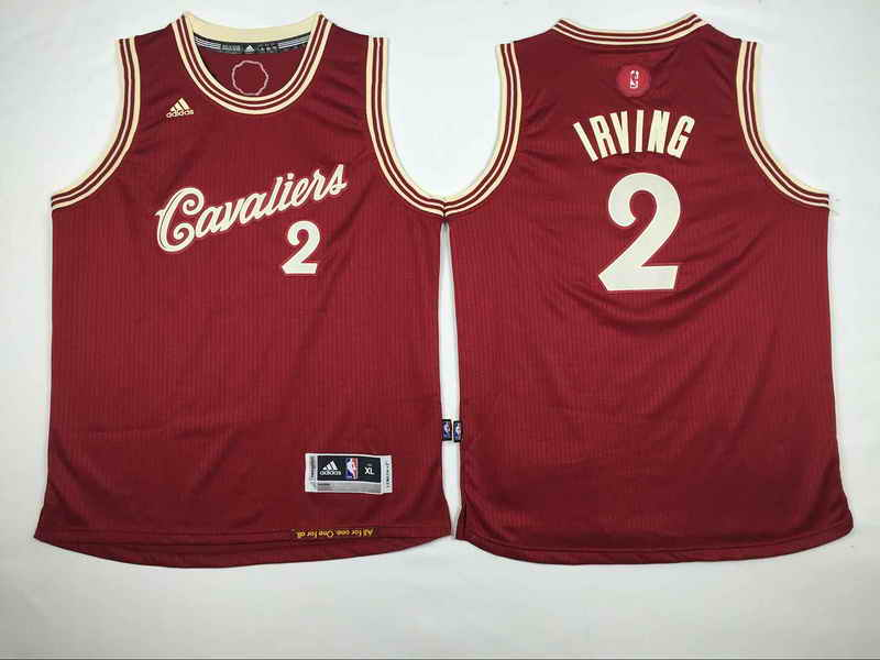 Cavaliers 2 Kyrie Irving Red 2015-16 Christmas Day Swingman Youth Jersey