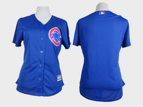 Women's Chicago Cubs Blank Blue Jersey