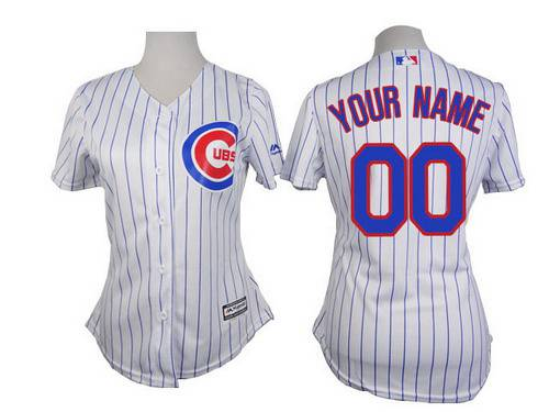 Women's Chicago Cubs Customized White Jersey