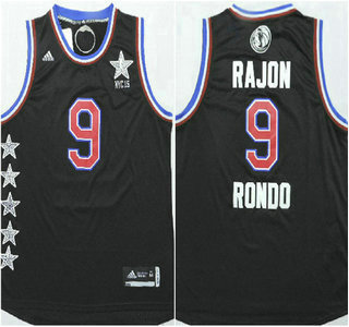 2015 NBA Western All-Stars #9 Rajon Rondo Revolution 30 Swingman Black Jersey