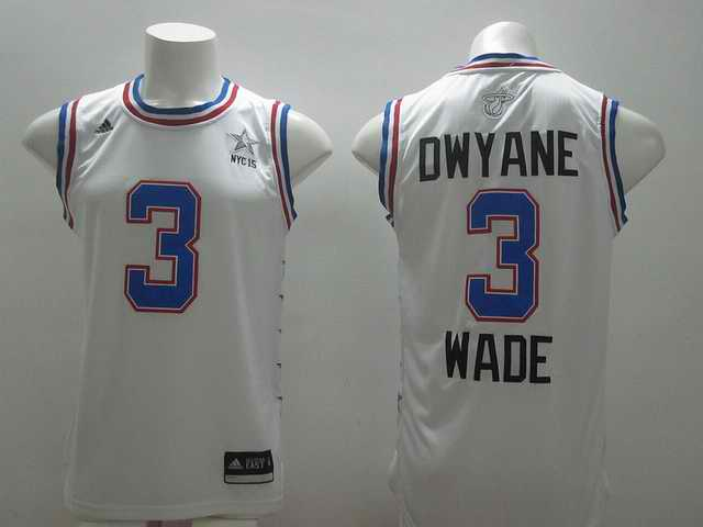 2015 NBA All Stars Jersey For Miami Heat 3 Dwyane Wade