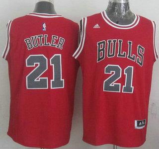 Chicago Bulls #21 Jimmy Butler Revolution 30 Swingman 2014 New Red Jersey