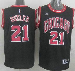 Chicago Bulls #21 Jimmy Butler Revolution 30 Swingman 2014 New Black Jersey