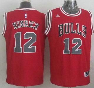 Chicago Bulls #12 Kirk Hinrich Revolution 30 Swingman 2014 New Red Jersey