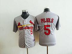 MLB Women Jerseys St. Louis Cardinals #5 pujols grey Jerseys