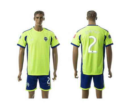 2015-16 Seattle Sounders #2 Dempsey Home Soccer Shirt Kit