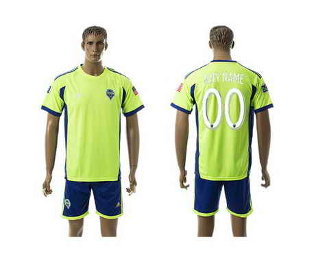 2015-16 Seattle Sounders Customized Home Soccer Shirt Kit