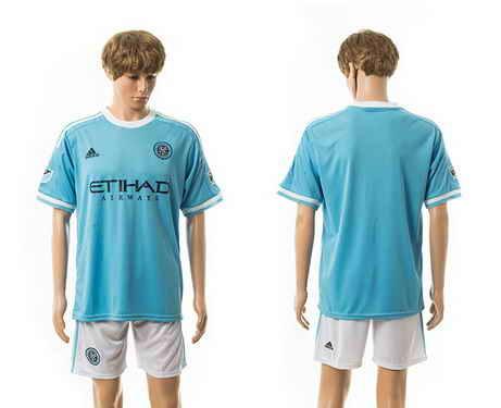2015-16 New York City FC Customized Home Soccer Shirt Kit