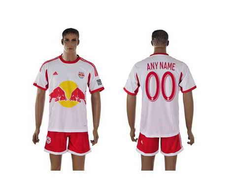 2015-16 New York Red Bulls Customized Home Soccer Shirt Kit