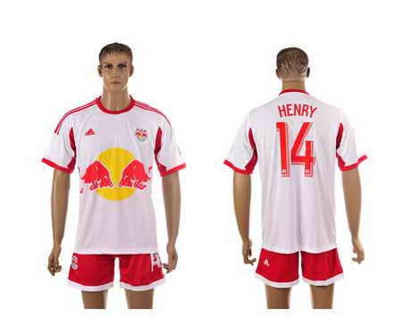2015-16 New York Red Bulls #14 Henry Home Soccer Shirt Kit