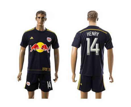 2015-16 New York Red Bulls #14 Henry Away Soccer Shirt Kit