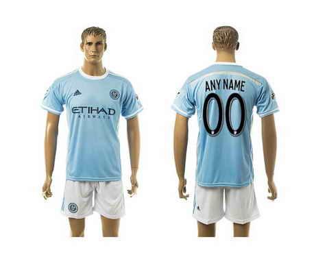 2015-16 New York City FC Customized Home Soccer Shirt Kit-1