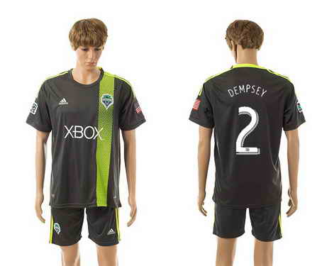 2015-16 Seattle Sounders #2 Dempsey Away Soccer Shirt Kit