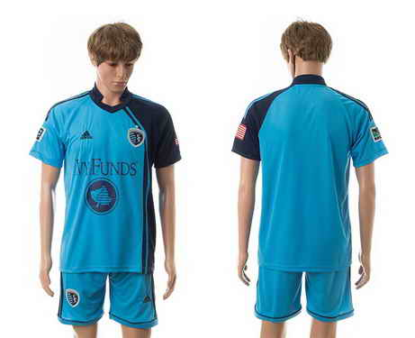 2015-16 Sporting Kansas City Customized Home Soccer Shirt Kit