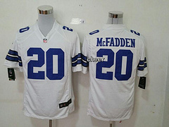 NFL Dallas Cowboys #20 Mcfadden white Game New Players Jersey