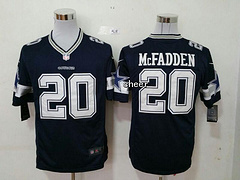 NFL Dallas Cowboys #20 Mcfadden blue Game New Players Jersey