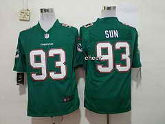 NFL Miami Dolphins #93 sun green 2015 New Game Jersey