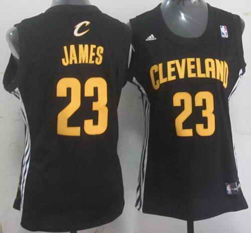 Cavaliers #23 LeBron James Black Women's Fashion Stitched NBA Jersey
