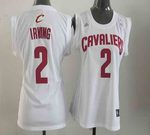 Cavaliers #2 Kyrie Irving White Women Fashion Stitched NBA Jersey