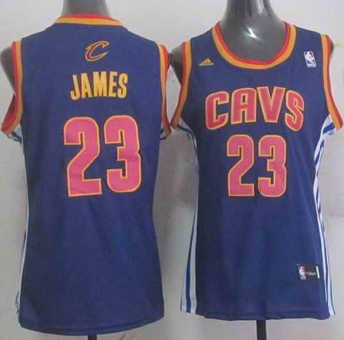 Cavaliers #23 LeBron James Light Blue Women's Fashion Stitched NBA Jersey