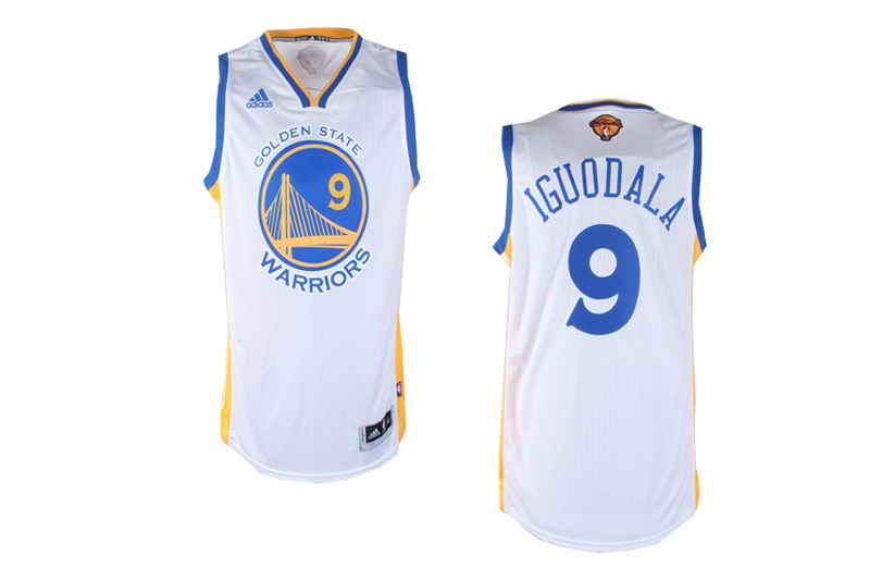 Revolution 30 Warriors #9 Andre Iguodala White The Finals Patch Stitched NBA Jersey
