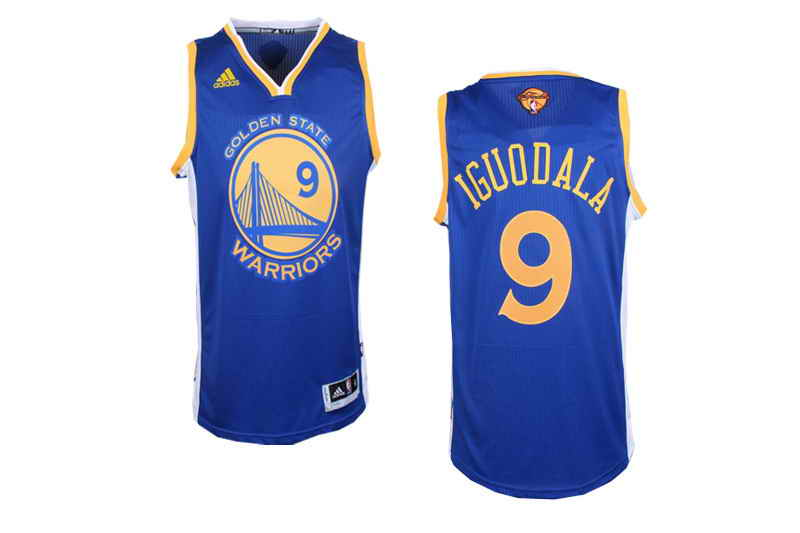 Revolution 30 Warriors #9 Andre Iguodala Blue The Finals Patch Stitched NBA Jersey