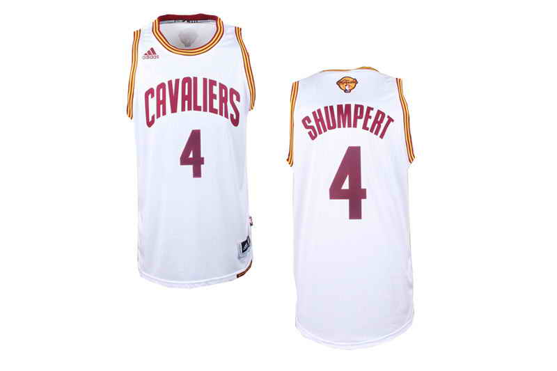 Cavaliers #4 Iman Shumbert White Alternate The Finals Patch Stitched NBA Jersey
